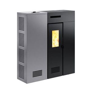 300x300 stufa a pellet sottile caminetti montegrappa duglia 9 kw ad aria ventilata canalizzabile grigia