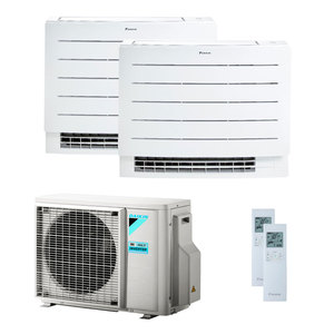 300x300 condizionatore daikin perfera floor dual split 7000 plus 12000 btu inverter a plus plus wifi unita esterna 4 kw ue