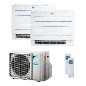 300x300 condizionatore daikin perfera floor dual split 9000 plus 12000 btu inverter a plus plus wifi unita esterna 4 kw ue