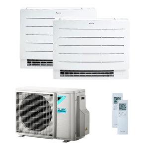 300x300 condizionatore daikin perfera floor dual split 9000 plus 9000 btu inverter a plus plus wifi unita esterna 4 kw ue
