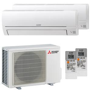 300x300 condizionatore mitsubishi electric msz hr dual split 9000 plus 12000 btu inverter a plus plus esterna 40 kw