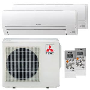 300x300 condizionatore mitsubishi electric msz hr dual split 12000 plus 18000 btu inverter a plus plus esterna 50 kw