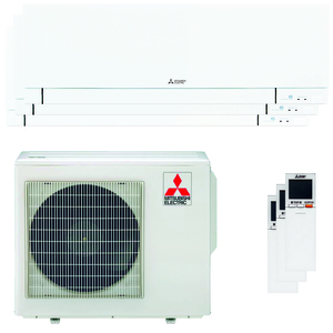 300x300 condizionatore mitsubishi electric kirigamine zen msz ef trial split 9000 plus 9000 plus 12000 btu inverter a plus plus wifi esterna 54 kw bianco